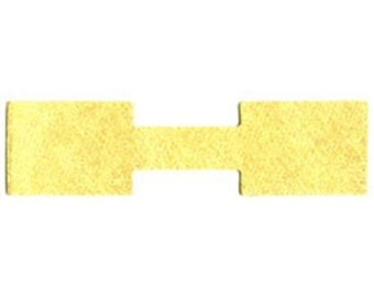 1000 Gold Tyvek Square End Jewelry Labeling Price Tags 1 3/8 x 1/2