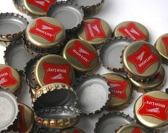 Beer Bottle Caps Miller High Life Gold Cap Set of 50
