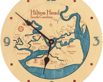 "Hilton Head, South Carolina  12"" Clock"