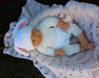 Halloween crochet bunny outfit