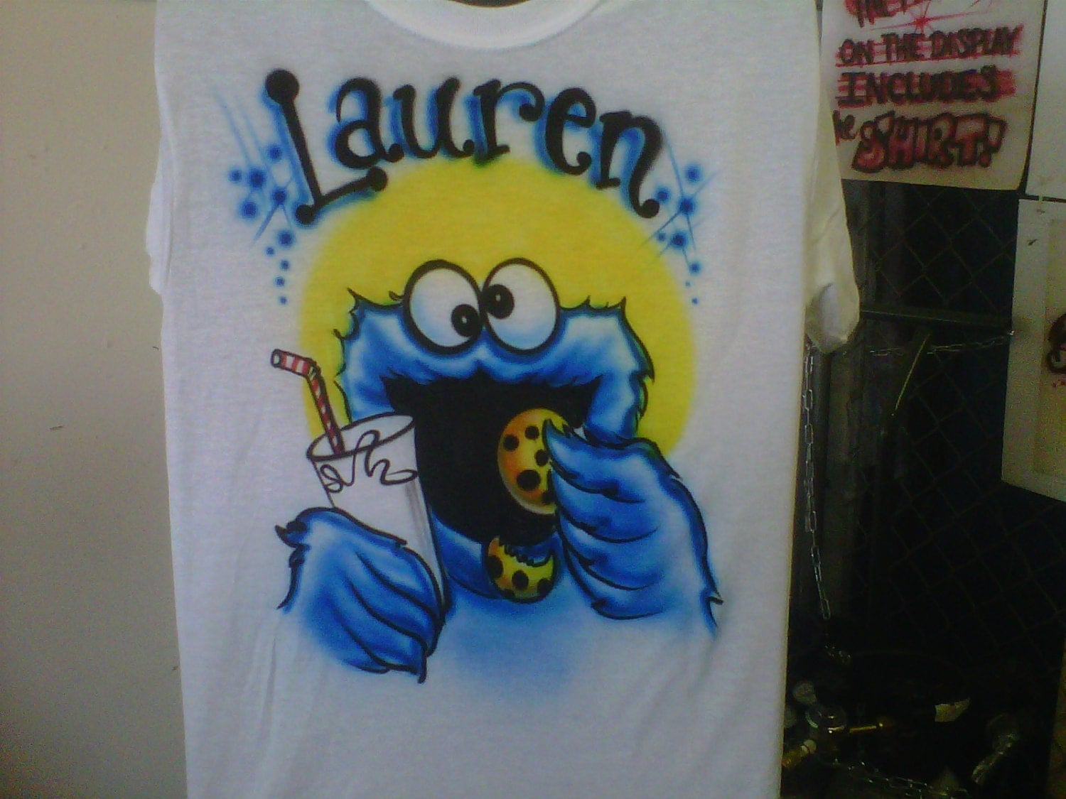 Custom airbrush t shirt free hand not a stencil by for Custom made airbrushed shirts