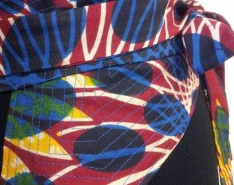 Quilted necktie inspired Obi belt - one size
