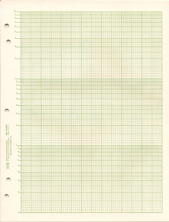 Semi-Logarithmic Graph Paper K&E 46 5490 3 Cycle X 70