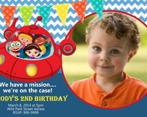 Little Einsteins Birthday Invitation Photo  Birthday Invite LLittle Einsteins Invitation
