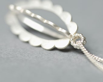 Scalloped Pendant Necklace