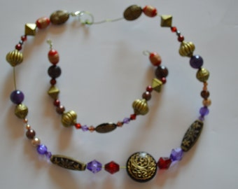 """Necklace & Bracelet """"Windowed Moon"""""""