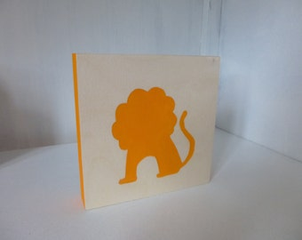 Simon the Lion! Framework of painting on wood - single piece production - handmade!