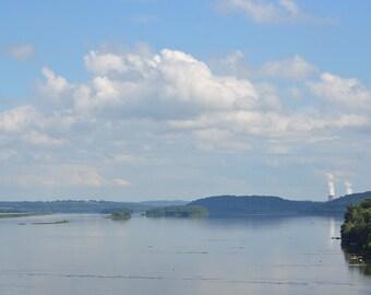 TMI, three mile island, Susquehanna river, river photography, clouds, horizon photo, cloud photo, river photo, tmi photo