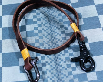 Leather Lanyard,Lanyard,Leather strap ,Leather key fob,Key chain, Leather Key chain (MC-28)