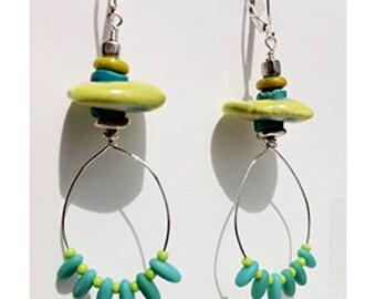 carnivale lime drop earrings