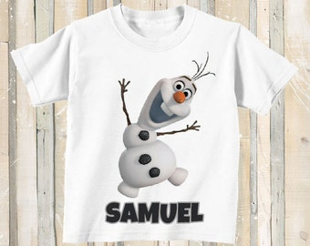 Frozen Olaf Snowman Personalized T Shirt Top Party Gift