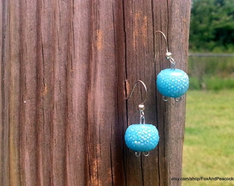 Baby Blue Iridescent Earrings