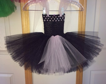 Black & Pale Pink Tutu with Rhinestones