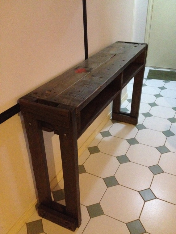 Hall Side Table industrial recycled pallet hall table side table