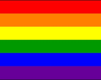3' x 5' Rainbow gay pride flag with grommets