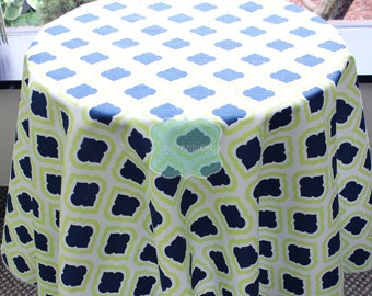 Tablecloth - Premier Prints - Curtis - Canal Blue Green - Choose Your Size - Table Linen Wedding Home Decor Dining Kitchen