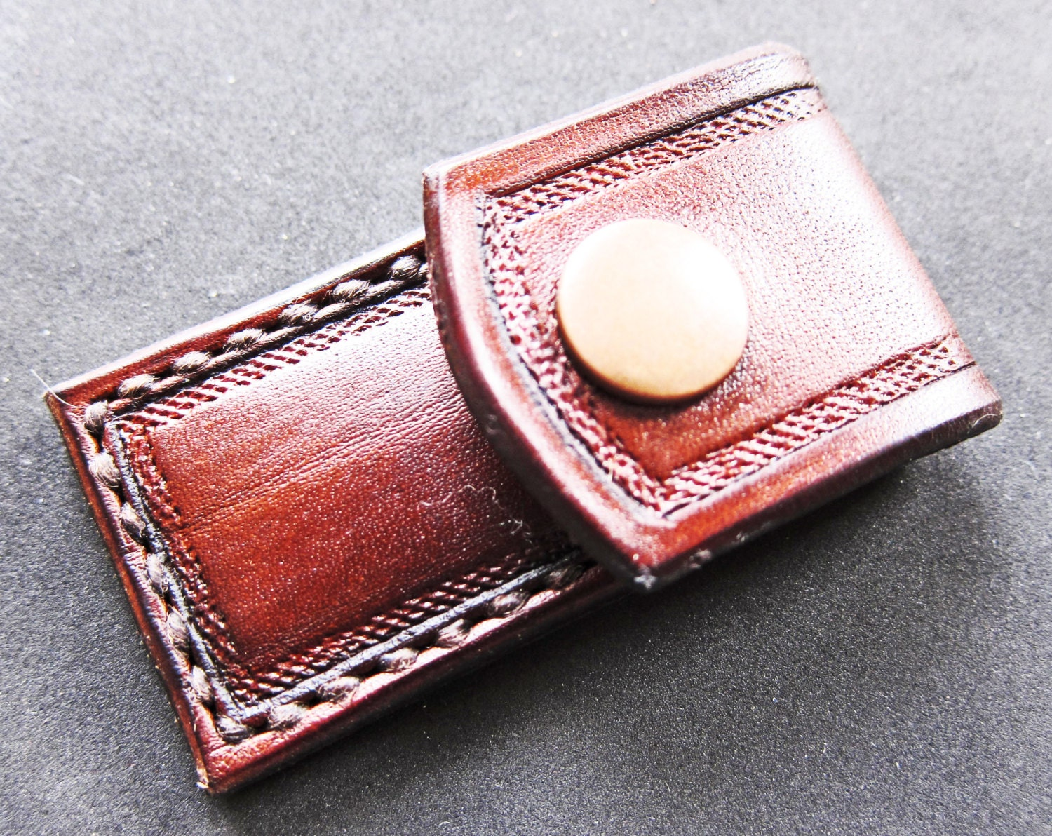 Leather toothpick holder - Personal toothpick holder ...