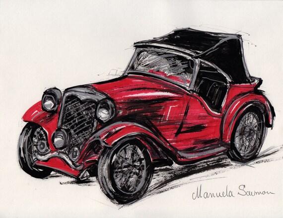 voiture classique rouge illustration 1932 ford roadster r tro. Black Bedroom Furniture Sets. Home Design Ideas