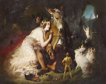 "Sir Edwin Henry Landseer ""A Midsummer Nights Dream""  1850 Reproduction Digital Print"