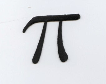 Pi Sign - Math - Embroidered Patch - Iron on Applique - 696403A
