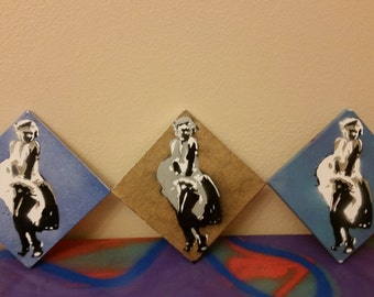 Marilyn Monroe Triple Layer Spray Paint Stencil Canvas Wall Art