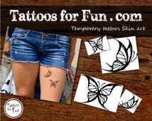 Butterfly Temporary Tattoo- Choose Your Pack- Butterflies Fake Tattoos- Animal Stick on tattoo- Ink Tattoos- Butterfly water tattoos