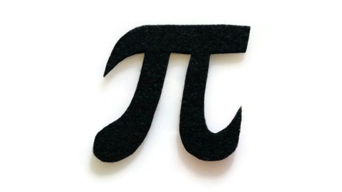 Pi symbol patch no sew felt you pick the color for Pi character