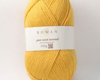 Rowan Pure Wool Worsted Machine Washable Yarn - Buttercup 00132