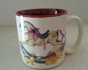 Sale 1987 Christmas Mug by Potpouri Press