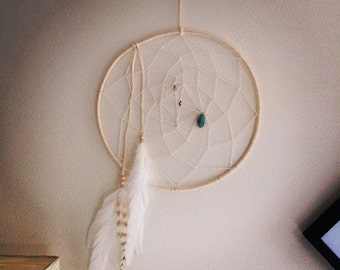 Large White Dream Catcher - Elegant