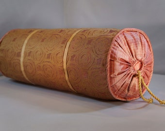 REDUCED: Petal - Custom silk down bolster pillow