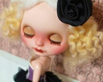 By miumiu - Purple and Black Petal Dress for Blythe Doll - Sale
