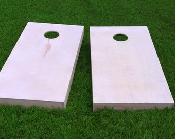 DIY Non Painted Premium Cornhole Boards with bags | Corn hole | Corn toss | Baggo | Hand Built | Made in USA | Bag toss