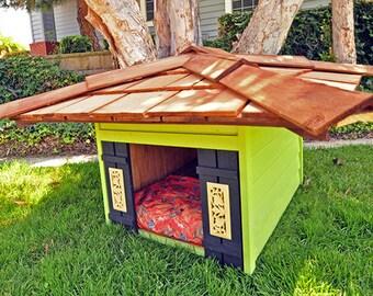 Designer Dog Houses, Pet house, Cats, Turtles, Dogs, Pet Meditation lodge, Garden Art, Tranquility Lodge