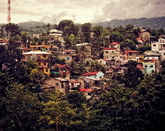 Nature Photography Philippines Countryside Slums Postcard Nursery Print, Wall Decor, Wall Hanging Forest Landscape Fine Art Photo Print
