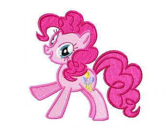 My Little Pony Pinkie Pie Embroidery Design - Instant Download