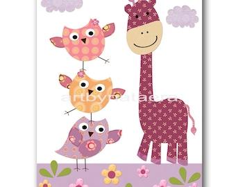 Giraffe Nursery Print Baby Nursery Art Digital Download Art Printable Digital Download Print 8x10 11X14 Kids INSTANT DOWNLOAD Wall Art