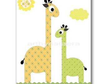 Giraffe Nursery Baby Boy Nursery Art Baby Nursery Printable Digital Kids Digital Art Baby Print Download 8x10 11X14 INSTANT DOWNLOAD Art