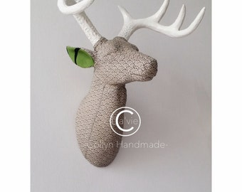 Deer Head Wall Mount - Handmade Fabric Item