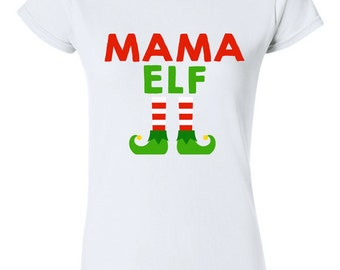 Daddy Elf Funny Family Christmas T-shirt Tshirt Tee Shirt Gift
