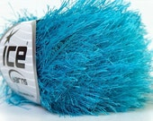 Turquoise Blue Fun Fur Eyelash Yarn ICE Brand 22778