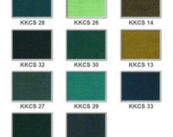 Cotton silk - greens to browns 8 pounds per metre