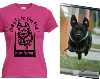 Custom made from photo of your dog in all colours hoodie, t shirt