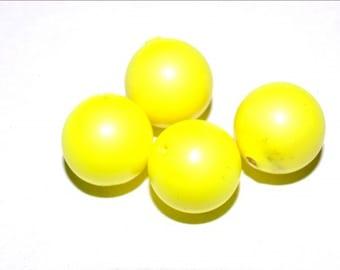 4 pc Swarovski Elements NEON Pearls (5811) Neon Yellow