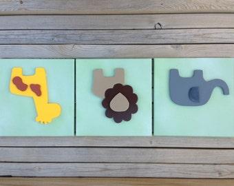 Baby Animal Wall Art - Nursery