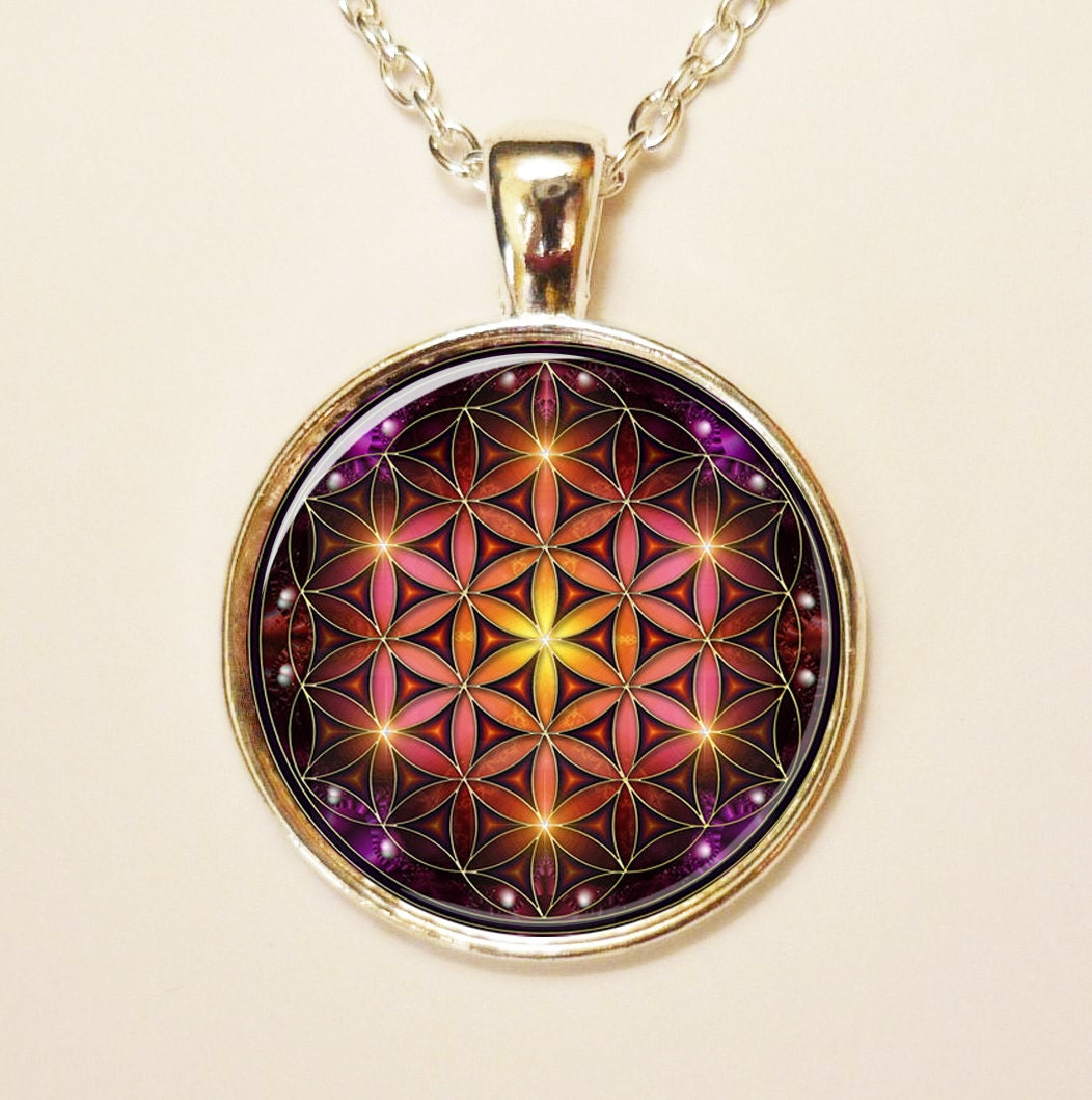 Flower Of Life Pendant Chakra Necklace Spiritual By