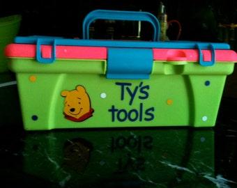 Kids toy tool box