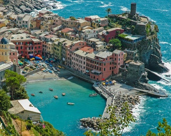 Fine Art Photographic Print • Vernazza - Cinque Terre Italy • Various Sizes and Gallery Wrap Available • FREE SHIPPING