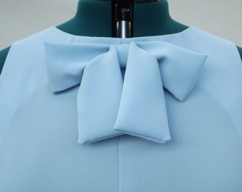 Baby Blue Shift Dress - UK 16