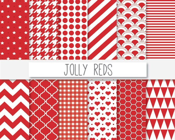 roten digitales papier jolly rot scrapbooking von. Black Bedroom Furniture Sets. Home Design Ideas